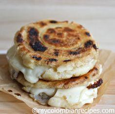 Arepas Rellenas de Queso (Cheese Stuffed Arepas)