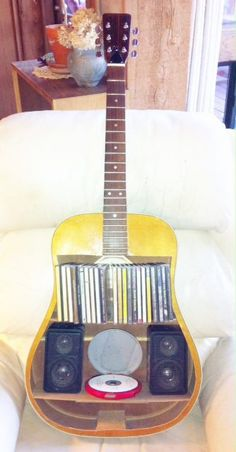 Guitar CD Shelf and Player.  Easiest way to play the guitar!