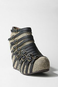 Jeffrey Campbell Multi Buckle Wedge- urban outfitters