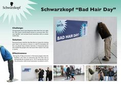 BAD HAIR DAY, DDB Germany, Berlin, Schwarzkopf, Print, Outdoor, Ads  http://www.arcreactions.com/transparent-plastic-business-cards-2/