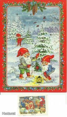 ˇˇ Christmas Elf, Vintage Cards, Elves, Troll, Gnomes, Scandinavian, Biscuit, Artists, Costumes