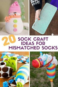20 Sock Craft Ideas to make with Mismatched Socks