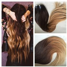 5 Star Ombre Cuticle European Remy Human Hair Double Wefted Sew in... ($230) ❤ liked on Polyvore featuring beauty products, haircare, hair styling tools, accessories, barrettes & clips, dark olive, hair accessories and bleached hair care