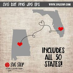 State to State SVG DXF PNG Jpg Eps Cuttable and Printable