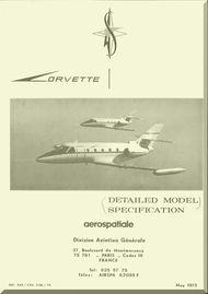 Aerospatiale / Sud Aviation SN 601 Corvette Specification  Manual,- 1973