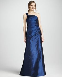 Phoebe Couture - One-Shoulder Gown, Navy