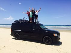 Nissan NV with Aluminess roof rack!  Photo cred: Kirk Waldfogel