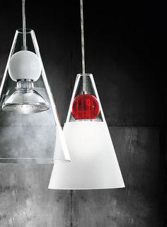 Glass pendant lamp GEMMA S1 by de Majo Illuminazione | #design Giovanni Barbato @demajolight