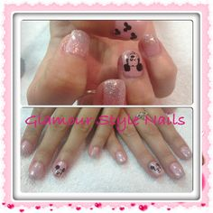 Mickey Mouse Florida Nails. Cute and glittery!