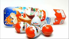 Unboxing Kinder Surprise Egg with Christmas Surprise Toys