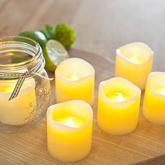 [Gorgeous Flameless Candles] – Flickering LED Candles – hrs of Extended Light Time – Set of 6 Unscented Battery Powered Romantic LED Candles – Votive Candles – Fake Candles – Suitable for Weddings, Christmas, Funerals, Souvenirs – Makes a Great Gift – Flickering Lights, Led Tea Lights, Tea Light Candles, Orange Candles, Night Lights, Battery Candles, Flameless Candles, Pillar Candles, Led A Pile