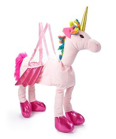 Take a look at the Pink Ride-On Unicorn Dress-Up Outfit - Kids on #zulily today!