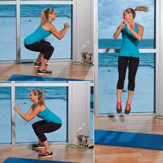 At Home: Rotating Squat Jumps Reduce Weight, Easy Weight Loss, Healthy Weight Loss, How To Lose Weight Fast, Workout Warm Up, Ways To Burn Fat, Weight Loss For Women, Weight Loss Motivation, Body Weight