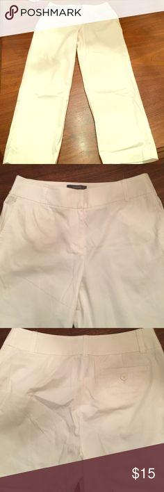 Liz Claiborne Audra pants- white size 10 Liz Claiborne Audra pants - white size 10 Liz Claiborne Pants Ankle & Cropped