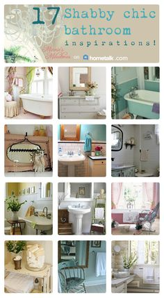 Gotta love the shabby chic look! 17 Shabby chic bathrooms to inspire you!