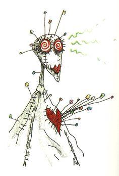 Ilustración de Tim Burton - Chica Budu