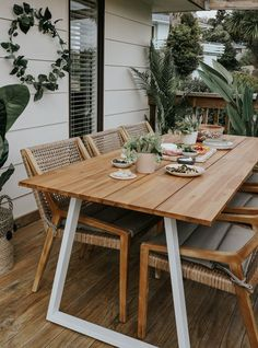 Woven Dining Chairs, Outdoor Tables And Chairs, Patio Dining, Dining Area, Patio Tables, Outdoor Rooms, Outdoor Living, Small Dining, Small Patio