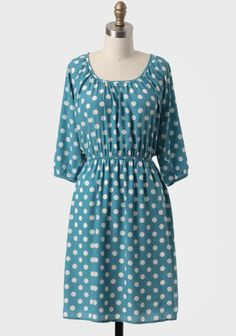 Sandra Polka Dot Dress #ruche #shopruche