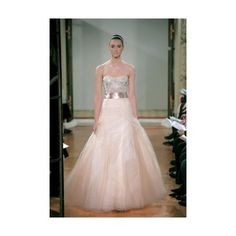 Monique Lhuillier Peaches and Cream wedding dress