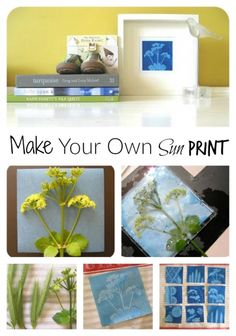 The weather over the weekend was bright and sunny  -perfect for getting out the Sunprint Kit my Mum had sent us recently.  Sunprints use a special paper that goes through a chemical change when  you expose it to light.