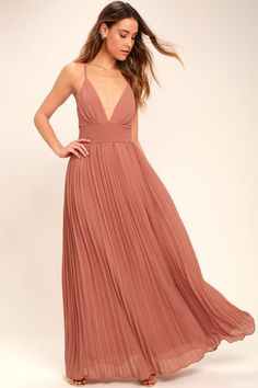 6fa8b340a4 Our love for the Depths of My Love Rusty Rose Maxi Dress is deeper than the