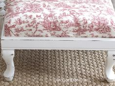 another great idea for a little footstool that's currently residing in my attic (with a broken leg!)