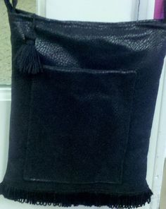 Black Leather Crossover Purse chain and leather by OdysseyandYve, $28.00