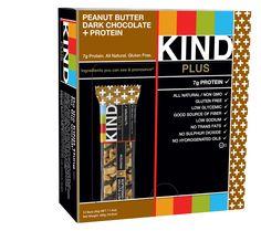 KIND PLUS, Peanut Butter Dark Chocolate + Protein, Gluten Free Bars (Pack of 12)