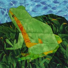 Claudias Quilts ~ Big Quilt of Nature ~ Laubfrosch / Tree-Frog. Visual example only....page no longer found.