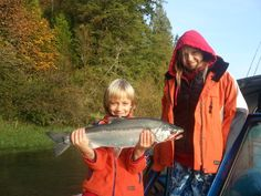His first coho salmon!