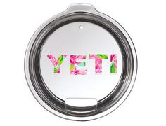 Lilly Pulitzer Yeti Lid Decal Yeti Logo for by CustomCreationsByCP