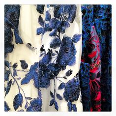 Floral embroideries. X Our #pf16 Marchesa Notte dresses all lined up in our showroom! #marchesa