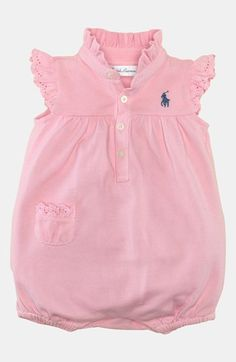 Ralph Lauren Bubble Coveralls (Baby Girls) | Nordstrom
