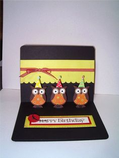 Celebrate You - Owl Punch pop up card-2