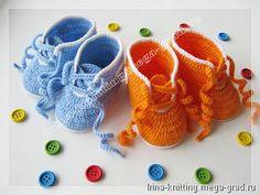 """Пинетки ботиночки """"Пуговки"""" - вязание и вышивка, плетение, авторские вещи для малышей. МегаГрад - мега-портал авторской ручной работы"""