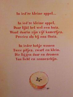 de tekst van een liedje geleerd van mijn moeder!