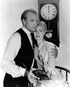 """Gary Cooper as Marshall Will Kane and Grace Kelly as his wife Amy Fowler Kane in """"High Noon"""", 1952"""