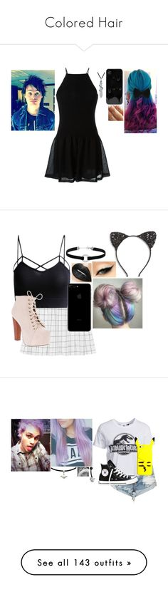 """""""Colored Hair"""" by haleybean47 ❤ liked on Polyvore featuring Bling Jewelry, Giamba, Cara, Miss Selfridge, Jeffrey Campbell, OneTeaspoon, New Look, Converse, adidas Originals and Dr. Martens"""