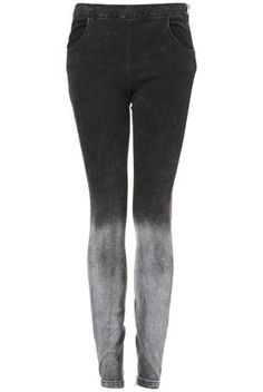 Bleach Hem Skinny Trousers