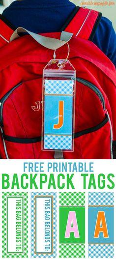 Free Printable Backp