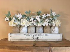 Simple and Cheap Children's Party: 60 Simple Decor Ideas - Home Fashion Trend Fall Home Decor, Diy Home Decor, Mason Jar Crafts, Mason Jars, Hydrangea Colors, Farmhouse Decor, Farmhouse Style, Rustic Decor, French Farmhouse