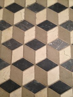 Cube tile effect Handmade tiles can be colour coordinated and customized re. shape, texture, pattern, etc. by ceramic design studios