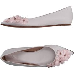 GIAMBATTISTA VALLI Ballet flats - Footwear D | YOOX.COM ($422) ❤ liked on Polyvore featuring shoes, flats, ballet flat shoes, skimmer flats, giambattista valli shoes, ballerina flat shoes and ballerina pumps
