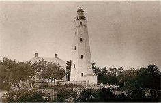 Sandy Hook New Jersey NJ Sandy Hook Lighthouse Collectible Vintage Postcard