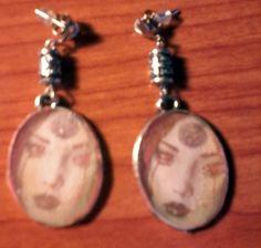 handmade earrings pendientes hechos a mano