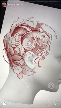 Lessons That Will Get You In The arms of The Man You love – Serpent tattoo Head Tattoos, Body Art Tattoos, Cool Tattoos, Tattoo Design Drawings, Tattoo Sketches, Tattoo Designs, Snake Tattoo, Arm Tattoo, Neo Traditional Tattoo