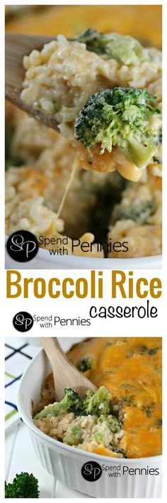 Broccoli Rice Casserole from Scratch!!  This delicious side is easy to make.. and if you add chicken or ham it makes a great main dish!