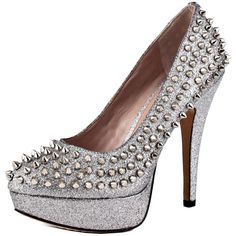 Eithy Women's Platform High Heels Spiky Studs Pumps 10 M US