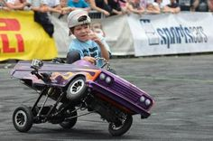 An adorable gallery of young drivers and their pedal cars. A tribute to the mothers of little auto enthusiasts across the nation! Rat Rods, Joker Brand, Monster Trucks, Lowrider Bike, Power Wheels, Kids Ride On, Ride On Toys, Pedal Cars, Go Kart