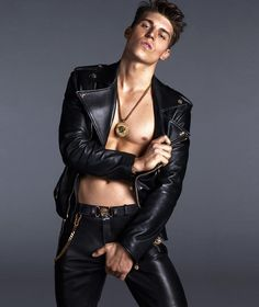 OMG! More Photos of Nolan Gerard Funk for Versace image Nolan Gerard Funk Versace 002